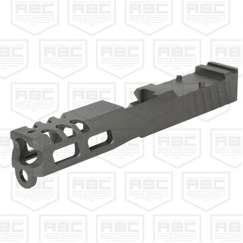 Custom Glock 19 Stripped Slide w/ Trijicon RMR Cut - Cerakote Tungsten