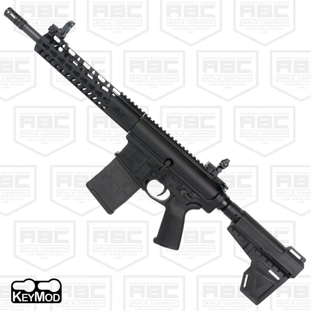 American Built Custom ABC-10 AR-308 Semi Auto Pistol 12